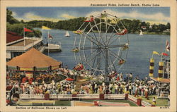 Amusement Rides, Indiana Beach, Shafer Lake