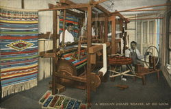 A Mexican Zarape Weaver at His Loom