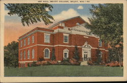 Art Hall at Beloit College Postcard