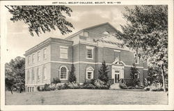 Art Hall, Beloit College Postcard
