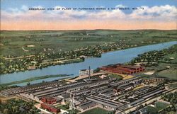 Aeroplane View of Plant of Fairbanks Morse & Co. Postcard