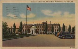 Entrance to Stateville, Illinois State Penitentiary