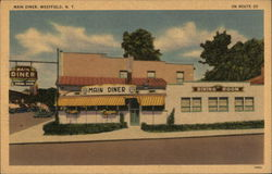 Main Diner, On Route 20 Postcard