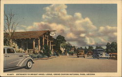 Entrance to Bright Angel Lodge, Grand Canyon National Park