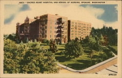 Sacred Heart Hospital and School of Nursing Postcard
