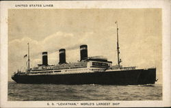 "S.S. ""Leviathan"" - United States LInes"