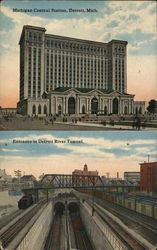 Michigan Central Station and Entrance to Detroit River Tunnel