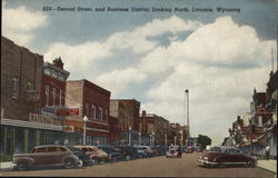 Second Street, and Business District, Looking North, Laramie, Wyoming