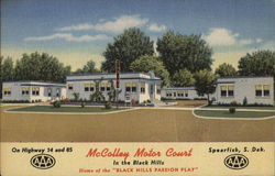 McColley Motor Court Postcard