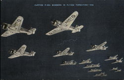 Curtiss P-36A Bombers in Flying Formation--014
