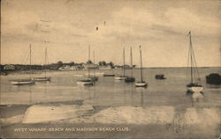 West Wharf Beach and Madison Beach Club Postcard