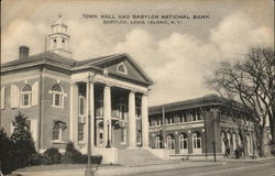 Town Hall & Babylon National Bank, Long Island