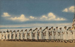 Women Marching in Summer Uniforms