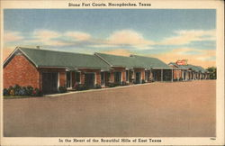 Stone Fort Courts, Nacogdoches, Texas Postcard