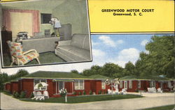Greenwood Motor Court Postcard
