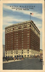 Hotel Melbourne, Lindell Boulevard at Grand Avenue Postcard