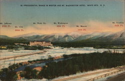 Presidential Range in Winter and Mt. Washington Hotel