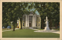 Pulaski Court House Postcard