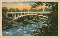 The Long Bridge over Salmon River Postcard