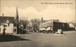 Post Office Square and Main Street Postcard