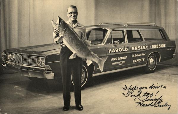 Ford Dealers Kansas City >> Harold Ensley Ford Show and Dealers Kansas City, MO Postcard