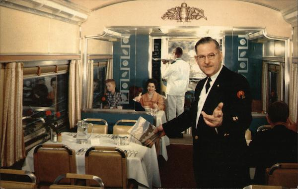 Dining Car, Northern Pacific Railway Trains, Railroad