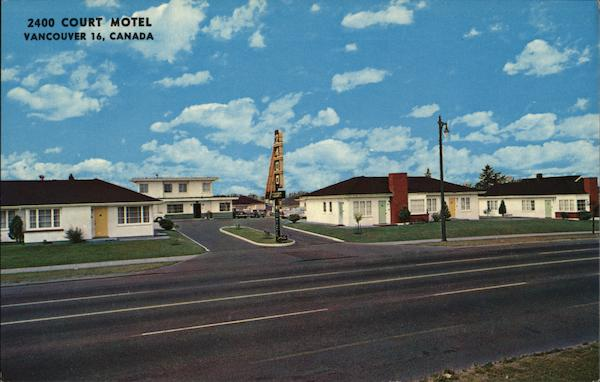 2400 Court Motel Vancouver Canada British Columbia