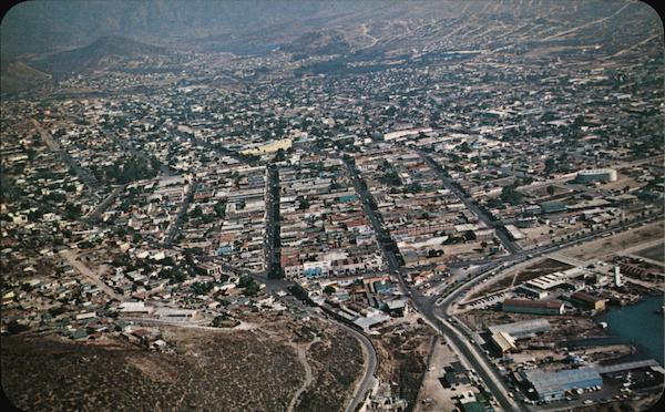 Aerial View of City Ensenada Mexico Benny ventura