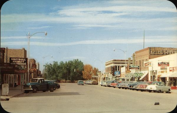 Business District Greybull Wyoming