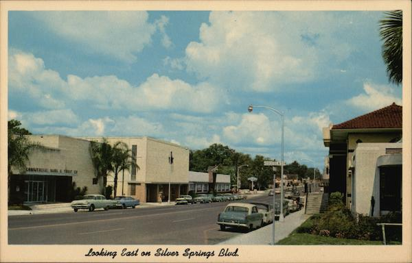 Looking East on Silver Springs Boulevard Ocala Florida