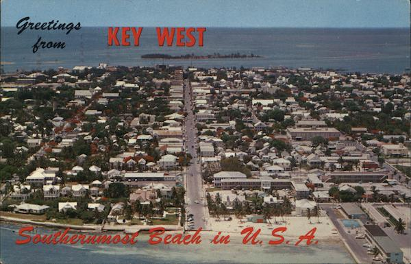 Airview of Key West Florida Lewis McLain