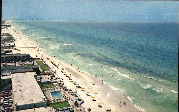 Long Beach, Aerial View Looking East Panama City Florida