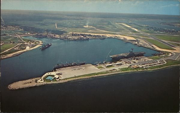 Aerial View of Mayport Naval Station's Harbor Florida