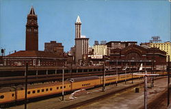 Seattle Railroad Depots Postcard