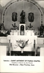 Interior of Saint Anthony of Padua Chapel Postcard