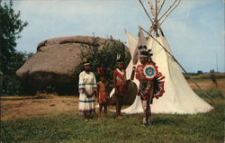 Indians at Pipestone National Monument Postcard