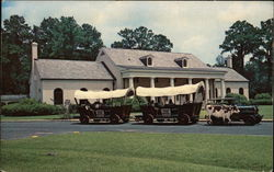 Conestoga Wagon Train at the Stephen Foster Memorial Postcard