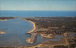 Aerial View of Harbor, Cape Cod Postcard