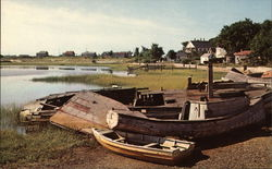 Abandoned Fishing Boats Postcard