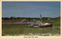 Derelict and Fishing Shacks in Wellfleet, Cape Cod Postcard