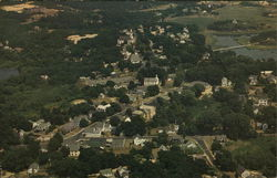 Aerial View of Center, Cape Cod Postcard
