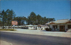 Temple Motel Postcard