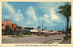 Ocean Drive Motel and Shopping Area