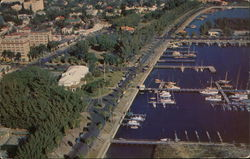 Aerial View Showing Yacht Club and Basin