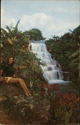 """Zambezi Falls"" in the Tropical Gardens Area of ""Africa U.S.A."""