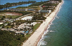 Aerial View of Lovely Lantana Beach Postcard