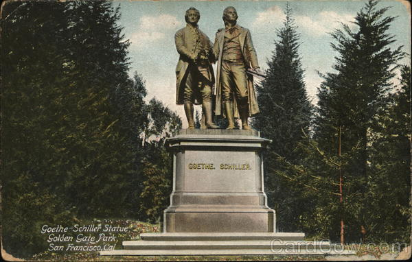 Goethe Schiller Statue, Golden Gate Park San Francisco California