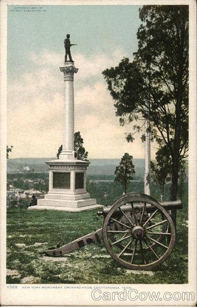 New York Monument at Orchard Knob Chattanooga Tennessee