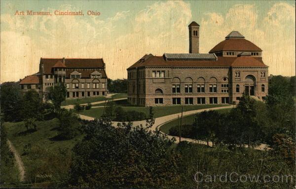 Art Museum Cincinnati Oh Postcard: museums in cincinnati ohio