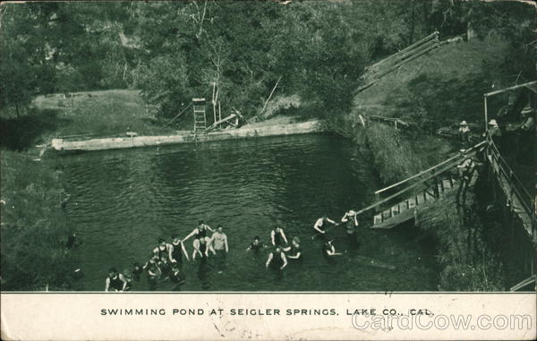 Swimming Pond at Seigler Springs California